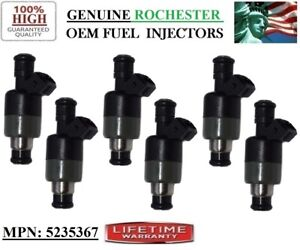Genuine Rochester Set of 6 Fuel Injectors for Buick,Chevrolet 3.1L