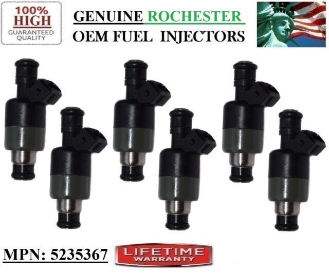 2.8-3.1L V6 Pontiac 6000 1985-91 Reman x6 OEM Rochester #17122105 Fuel Injectors