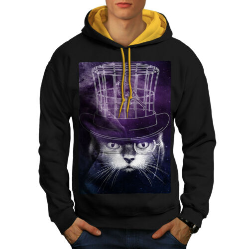 New Cage Hood Mind Hat Black Contrast Men Bird Hoodie Cat gold Rfnq7Pw