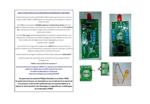 Déchargeur de condensateur CP0079 CYROB