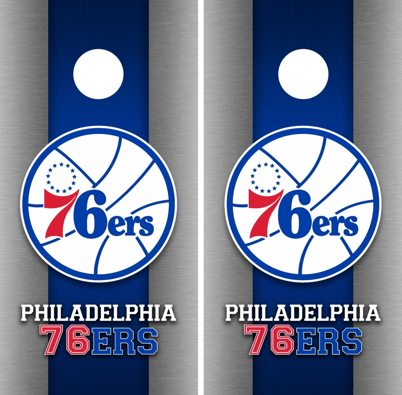 Philadelphia 76ers Cornhole Wrap NBA Game Board Skin Vinyl Decal Art Set CO688