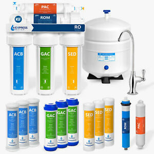 7 Express Water Filters 5 Stage Home Drinking Reverse Osmosis System PLUS Extra