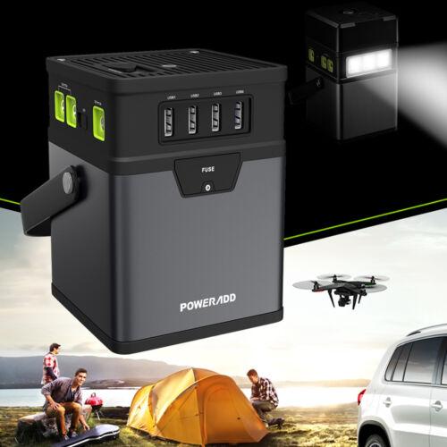 Poweradd 50000mAh Charger Center Portable Generator DC/AC Power Inverter W/ USB