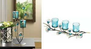 Coffee Table Centerpieces Dining Fireplace Mantle Decor Candle Holder Peacock Ebay