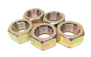 Unbranded-Generic-7-8-034-ID-Zinc-Plated-Hex-Nut-Lot-of-5-NOS