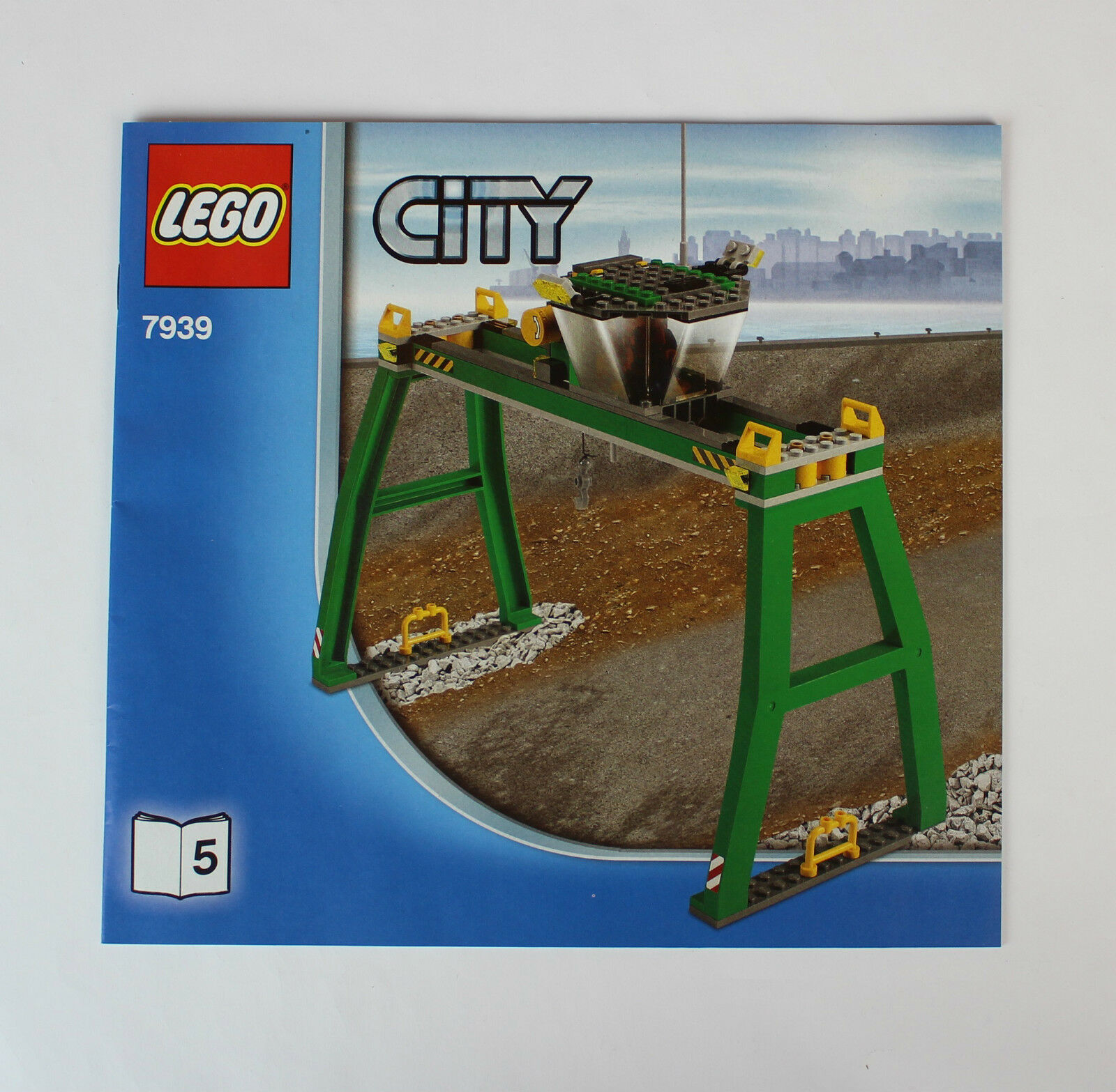 LEGO City Eisenbahn #7939 Portalkran Krananlage mit Bauanleitung !!!