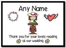 Thank You For Doing A Reading At Our Wedding Woman  Personalised Placemat