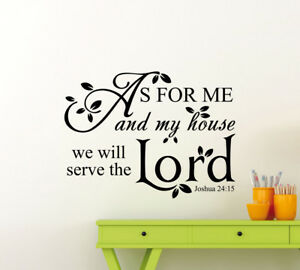 As For Me And My House We Will Serve The Lord Wall Decal Art Vinyl Sticker 142ct Ebay