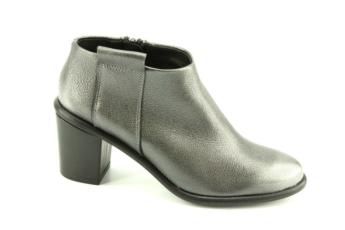 260 Nouveau Miista Anais Pewter Bottines en cuir taille 40 9.5 Made in Spain