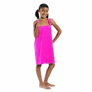 Terry Cotton Girls Wrap,  Made in USA