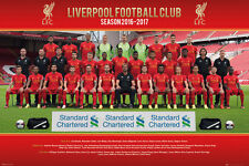 "Liverpool FC soccer poster 24x36/""  team collage with Luis Suarez"