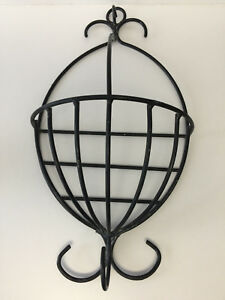 Image Is Loading Vintage Wrought Rod Iron Wall Mount 22 034