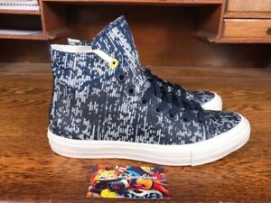 Details about Converse Chuck Taylor All Star II 2 HI Navy BlueWhiteYellow 153561C Camo