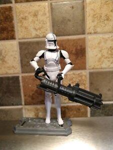 "Blaster Hasbro Star Wars The Clone Wars Clone Trooper Echo 3.75"" Action Figure"