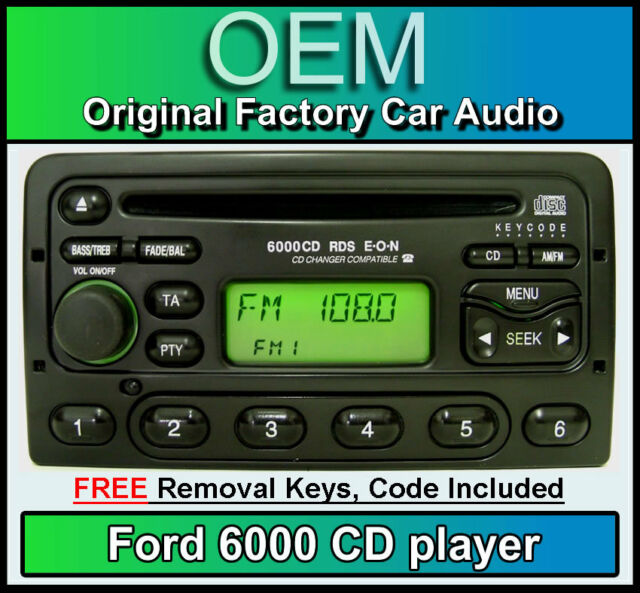 Ford Transit CD player, Ford 6000 car stereo with radio removal keys and code