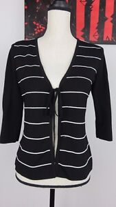 fddfa79a2 Cable   Gauge Petites Womens Open Cardigan Tie Front 3 4 Sleeves ...