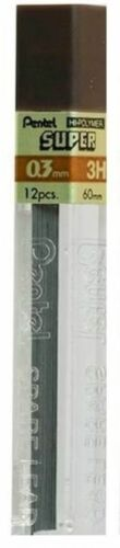 Pentel Pencil Refill Leads Super Automatic Mechanical 0.3 0.5 0.7 0.9 2B 2H B Hb