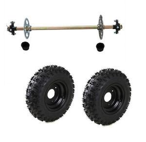 Go-Kart-Rear-Axle-Kit-Hub-Complete-Wheels-4-10-6-Off-Road-Fun-Cart-Parts-DIY