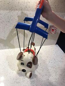 VINTAGE giocattolo Tomy Cane Pupazzo Natale 🎄 Flying CAGNOLINO Dalmation Retrò
