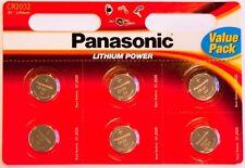 12 x Panasonic CR2032 3V A Bottone Al Litio Batteria 2032