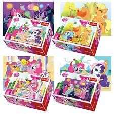 Trefl Mini 4 x 54 Pieces Kids Girls My Little Pony Birthday Jigsaw Puzzle NEW