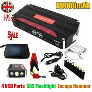 Details About Heavy Duty Portable 80000mah Car Jump Start Battery Power Starter Booster Pack