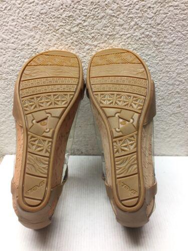 9 en Uk Strap 5 Plume Teva perlé Capri Wedge 5 Chaussure 5 cuir Leather Eu beige Us 40 7 gAvqRnw