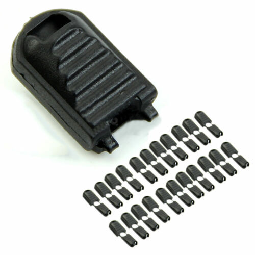Hot 20 Pcs Black Paracord Plastic Zippers Pull Replacement Cor Sport Outdoor ccb