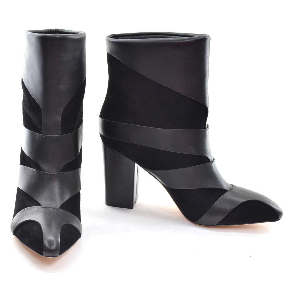 NIB Camilla Skovgaard Black Tri Beam Ankle Boot, size 37, Retail   565