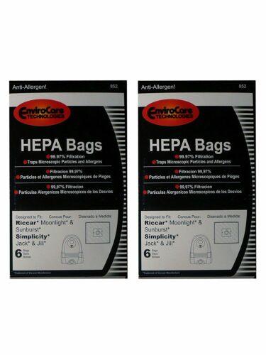 HEPA Type Z Bag Fits Riccar Moonlight Sunburst Pizzaz Canister Vacuum Cleaners