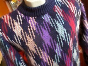 Medium-Herren-True-VTG-80-039-s-COOGI-Style-Retro-Bill-Cosby-Biggie-ugly-sweater-Pappel