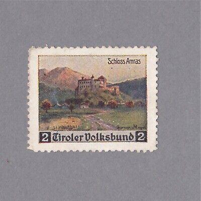 propaganda Seal Vignette Spendenmarke Tiroler Volksbund Schloss Amas Reinigen Der MundhöHle.