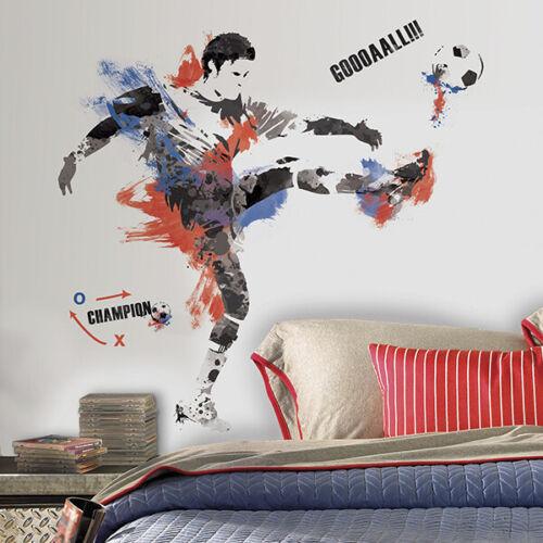 RoomMates Fußballspieler Champion Wandtattoo Wandsticker Wandaufkleber Wandb
