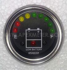 12V LED Battery Level Voltage Monitor Meter Indicator 52MM