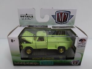 Rare-M2-Machines-Auto-Trucks-1972-Ford-F-100-Custom-4x4-Chase-1-Of-750-Green