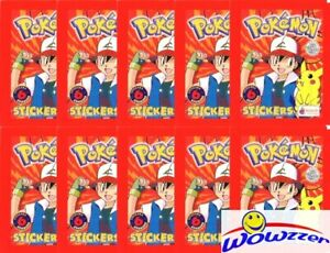 10-1999-Topps-Merlin-POKEMON-Sealed-Packs-60-Mint-Stickers-Over-20-Years-Old