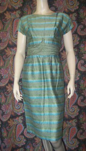 Vintage Dress Handmade 1950s Metal Zipper Waspy Wa
