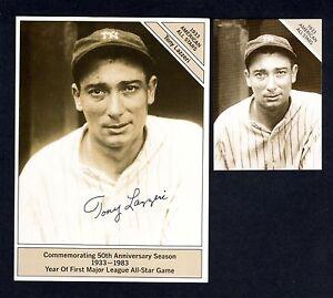 "TONY LAZZERI, Yankees GIANTsize 4.5""x 6""Conlon 1933 All-Stars(1983 Marketcom) NM"