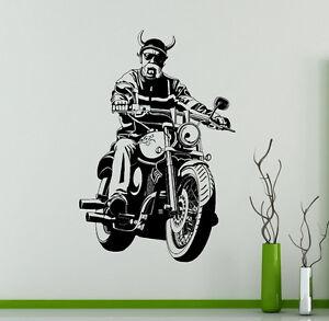 Z2141 Wall Vinyl Sticker Kids Decal Bike Motorcycle Detailed Chopper decor art