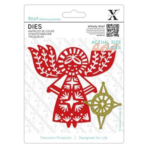 Docrafts Xcut Die Christmas Merry Angel set of 2 Dies