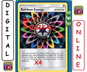 4x Rainbow Energy 137//149 Sun /& Moon Pokemon TCG Online Digital
