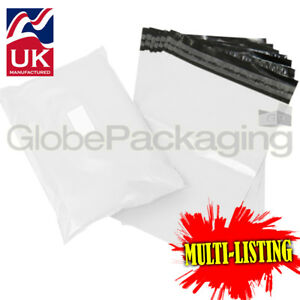 STRONG-WHITE-POSTAL-PLASTIC-POSTAGE-POLY-MAILING-BAGS-MAILERS-ALL-SIZES-QTY-039-S