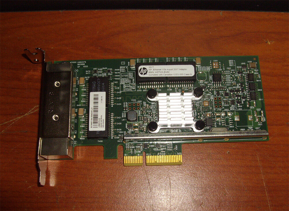 HP 331T 647592-001 Ethernet 1GB 4-port Adapter LP TYPE