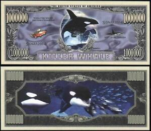 Killer Whale Orca Novelty Million Dollar Bill Funny Money Gag Gift Note Ebay