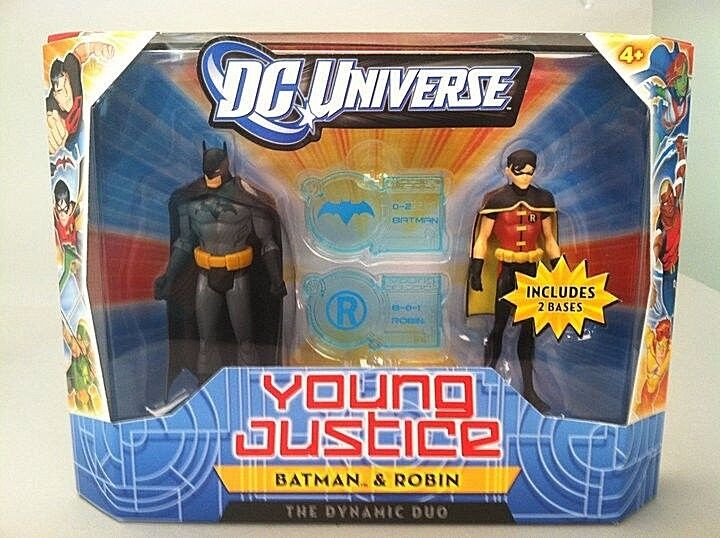 DC UNIVERSE_YOUNG JUSTICE Collection__BATMAN & ROBIN figures_2-Pack_New_Unopened