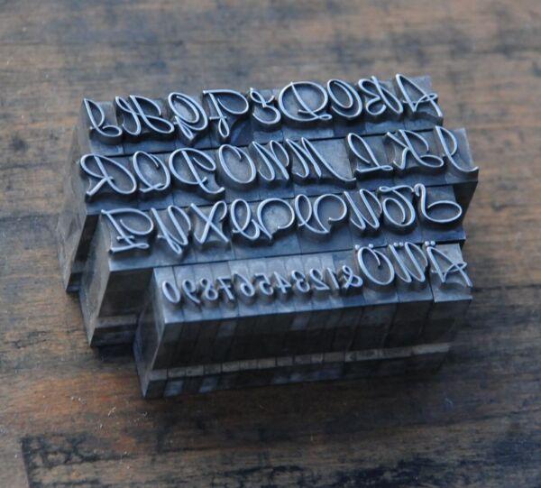 Alphabet Bleilettern Vintage Lettern Initial Druckbuchstabe Bleialphabet Drucken
