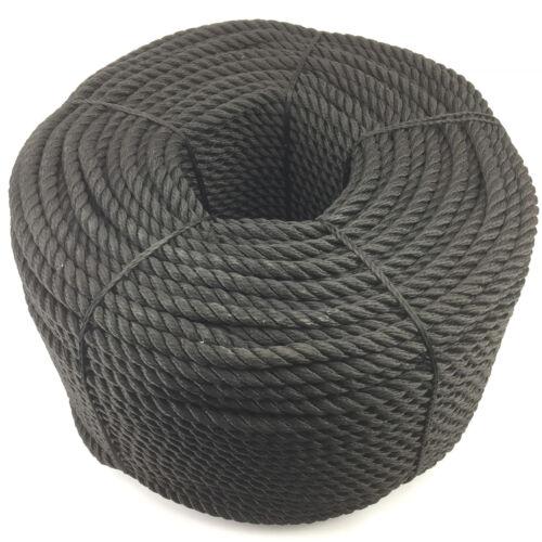 Floating Rope Softline Rope 16mm Black 3 Strand Multifilament x 30 Metres