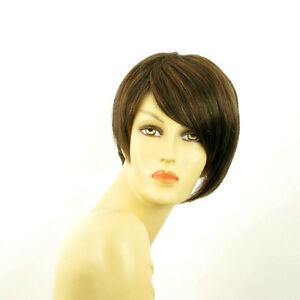 Perruque-femme-courte-Chocolat-meche-cuivre-YASMINE-627C