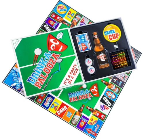 DRINK-A-PALOOZA Party Gifts for him Drinking Game Fun Board Games adult games