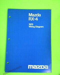 1978 mazda rx4 wiring diagrams service shop repair manual. Black Bedroom Furniture Sets. Home Design Ideas